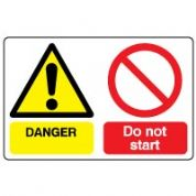 Multiple safety sign - Do Not Start 007